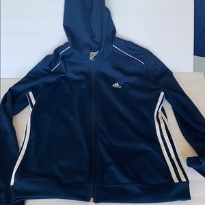 Adidas hooded sweater with pockets size Large